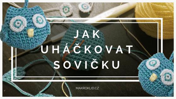 makroklid - návod na háčkovanou sovičku