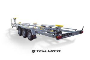 Bådtrailer Model H 3500 kg 3-aksel m/pude og ruller Temared