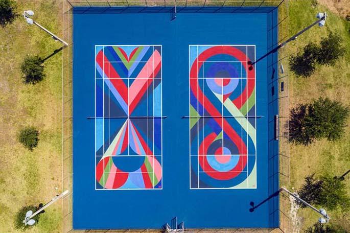 Yeni Trend: Tenis Kortlarına Sanatsal Dokunuş