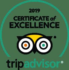 Certificado de Excelencia 2019 por TripAdvisor