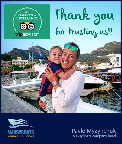 Certificate of Excellence 2019 by TripAdvisor, Pavlo Myzynchuk