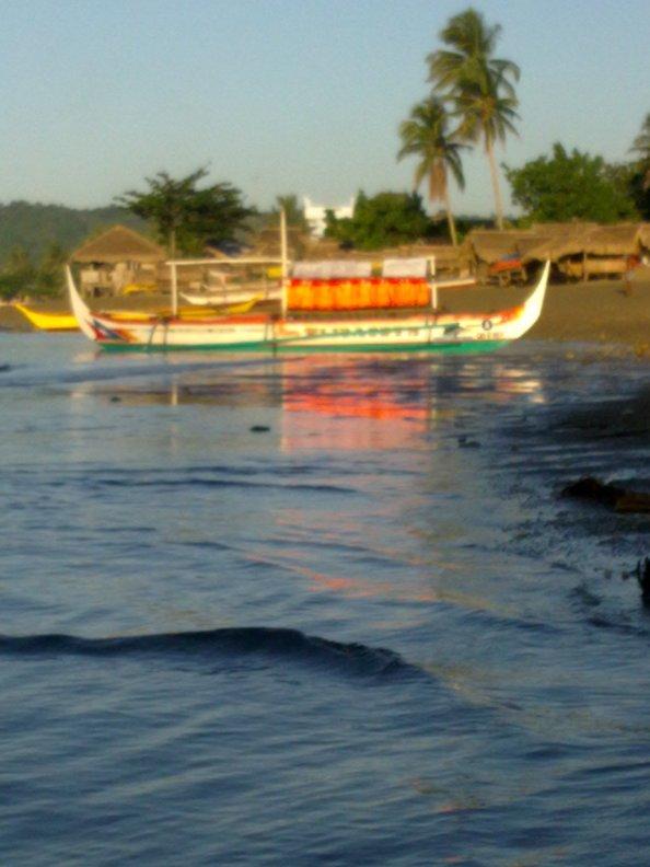 blurry boat.