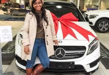 Boity shows off new ride - Mercedes Benz GLA 45 AMG