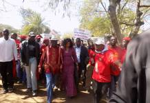 Not so Healthy Morgan Tsvangirai LEADS Masvingo Protests - Pictures