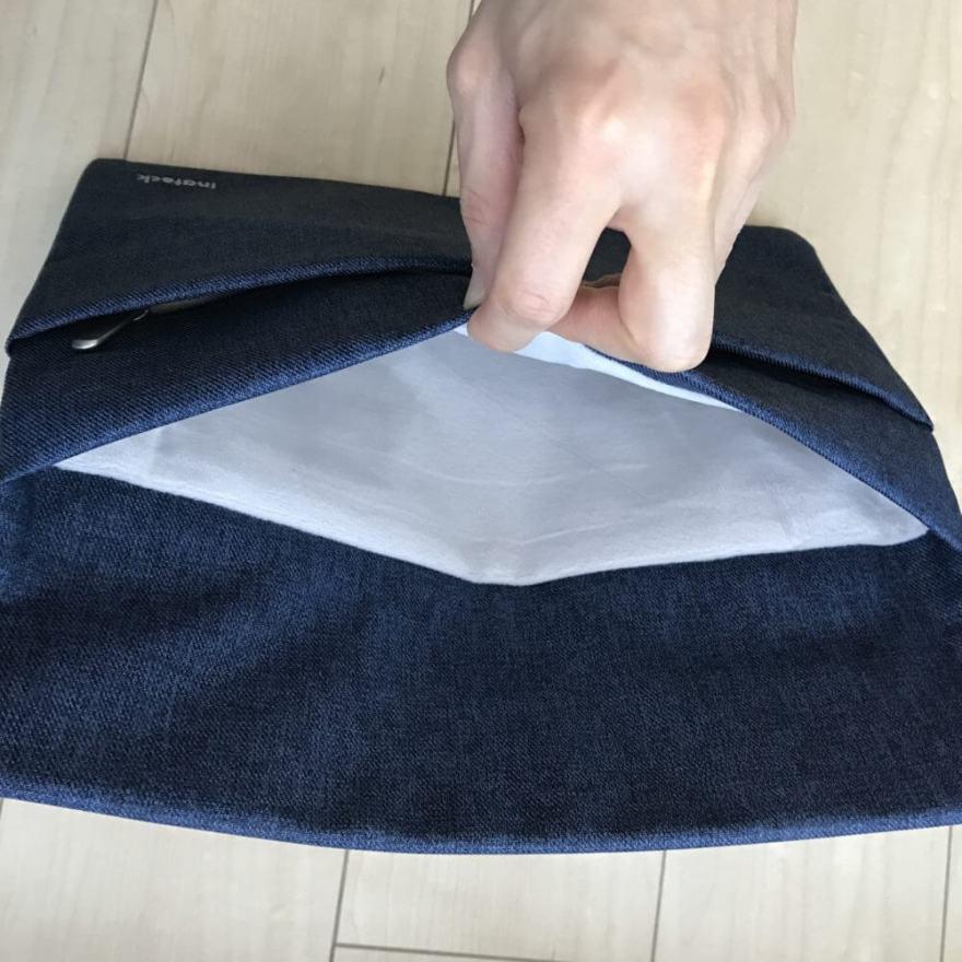 Inateck ラップトップスリーブケースはふんわり起毛のフランネル素材