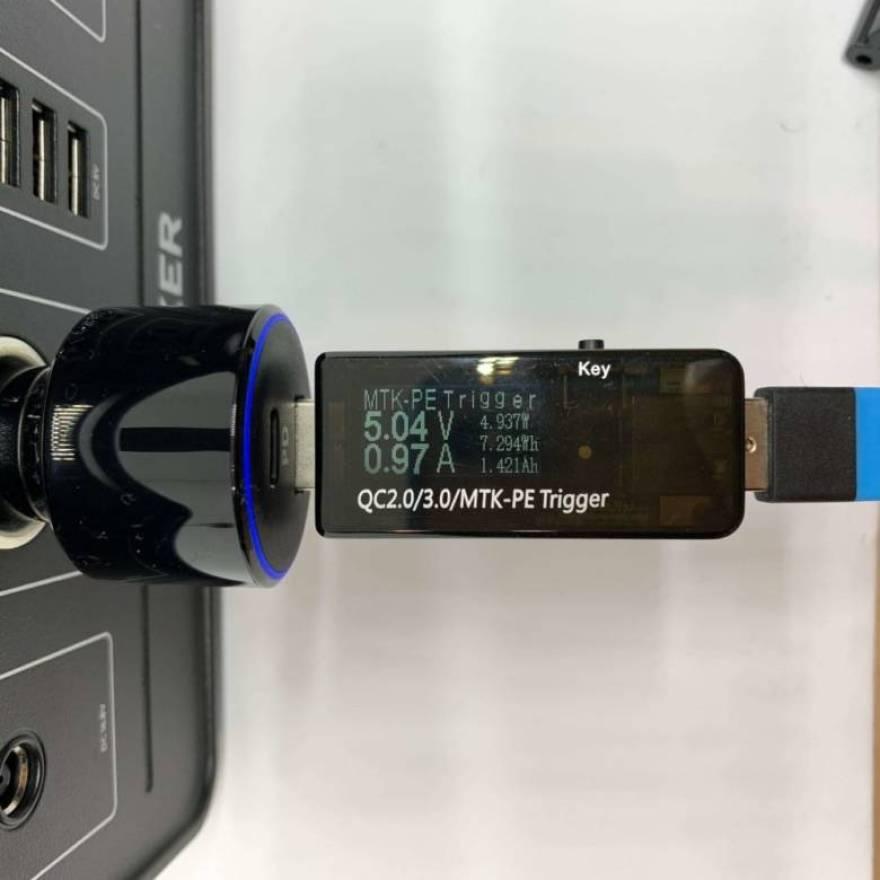 Anker PowerHouseのシガーソケット出力を確認
