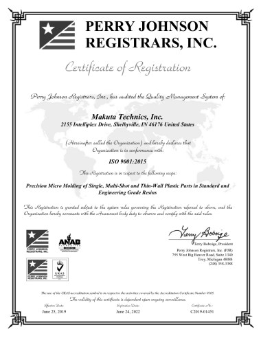 Makuta Technics, Inc. Final Cert