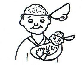 Ein Mann und ein Baby- Die Entwicklung des Gehirns.