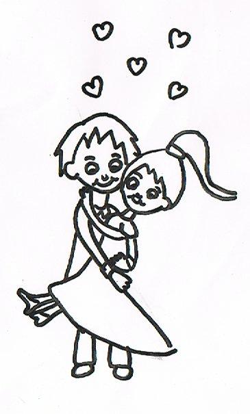 Ein Hochzeitspaar symbolisiert die Liebe.