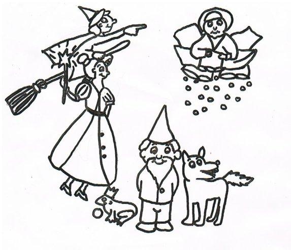 Verschiedene Märchenfiguren für die Biografiearbeit.