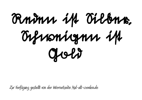 Das Sprichwort als PDF (Sütterlin)