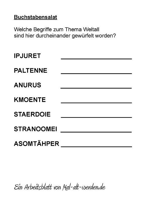 buchstabensalat- weltall