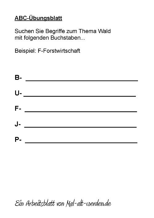 abc-arbeitsblatt-wald