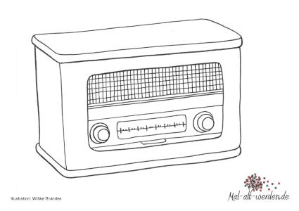 Radio Malvorlage