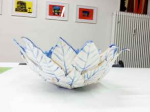 Blätterkeramik, mal-atelier, Galerie TRIGON 2015