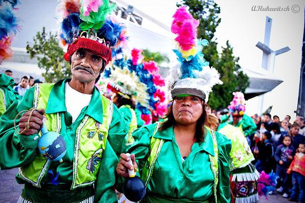 Javier Odais y Maria Isabel, 45 y 30 anos celebrando la virgen de Guadalupe en Monterrey, Mexico...