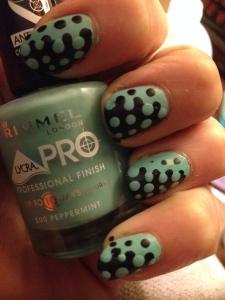 Blue to black spots Nails