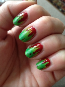 Zombie Blood Nails
