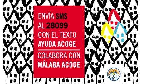 Colabora con Málaga Acoge enviando un SMS
