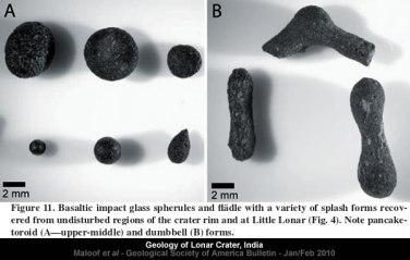 Lonar Crater - Basaltic impact glass