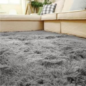Smooth Fur Rug Fluffy Carpet Grey
