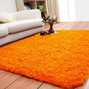 Smooth Fur Rug Fluffy Carpet orange