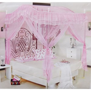 4 Stands Curved Mosquito Net