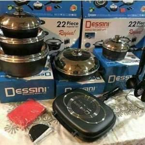 22 Pcs Dessini Original Non~stick Cook and Serve Pots