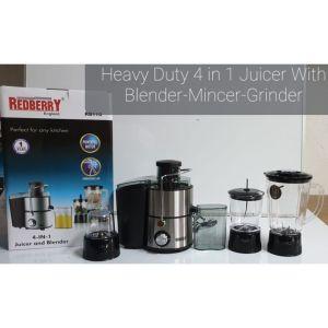 Heavy Duty Redberry 4 IN 1 Juicer,Blender, Grinder And Meat Mincer