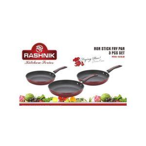 Rashnik 3pcs Set Non Stick Frying Pans(26,28,30CM)