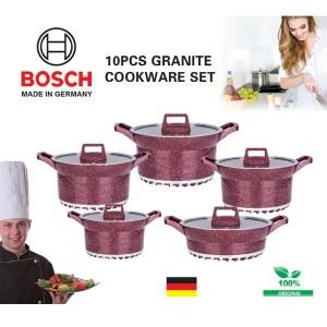 10pcs Bosch Germany granite coating cookware set