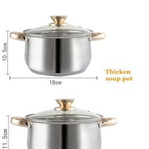 12pcs Zepter stainless steel cookware set heavy