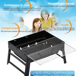 Foldable Portable Barbecue Charcoal Grill