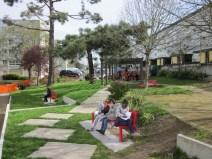 Ecriture dans un parc des Dervallières