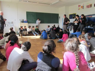 Rencontre et lecture entre élèves de Malakoff et des Dervallières