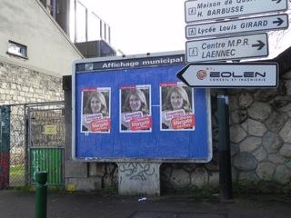 Affiches de la candidate PCF