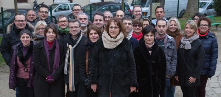L'équipe de Malakoff Plurielle autour d'Emmanuelle Jannès