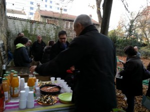 Frédérique Perrotte à l'inauguration du composteur
