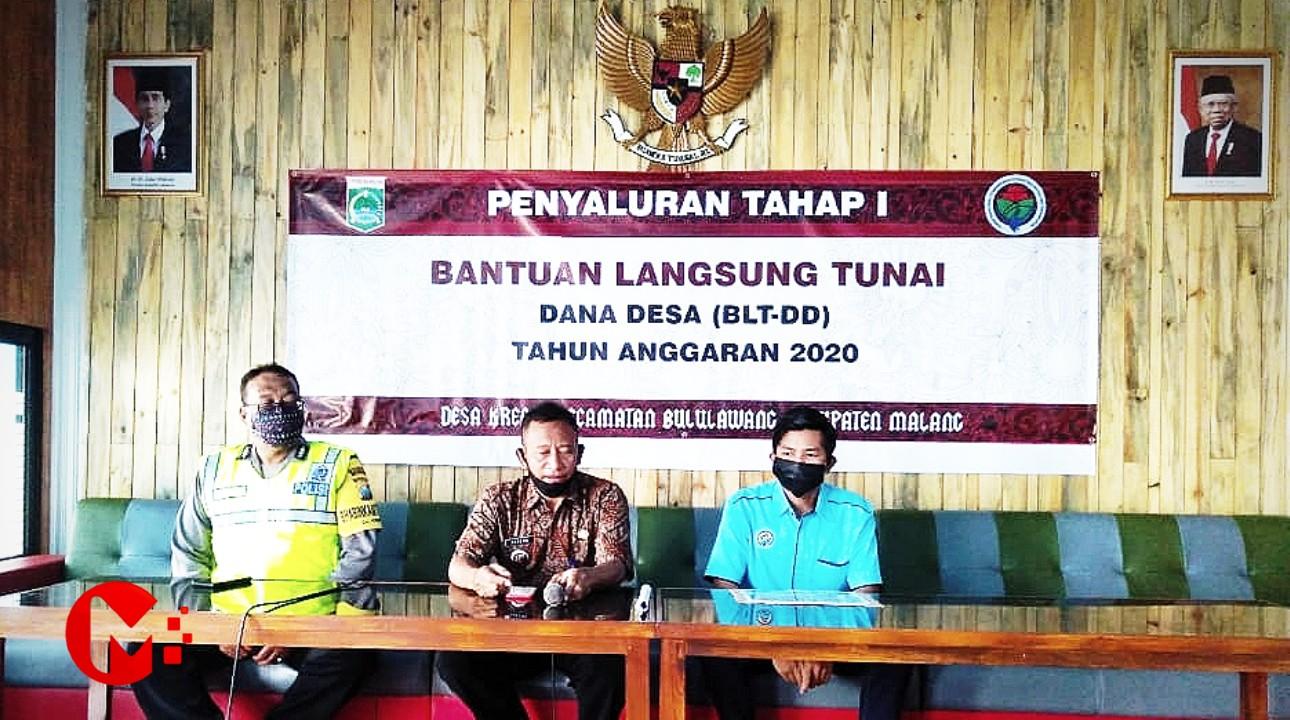 Foto : Pemdes Krebet Bululawang salurkan BLT-DD dan Sembako