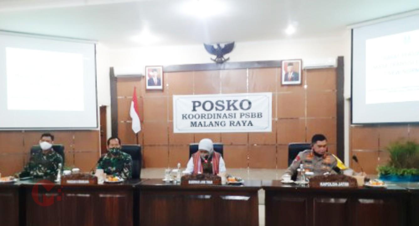 Foto : Gubernur Jatim, pimpin rakor pasca PSBB Malang Raya