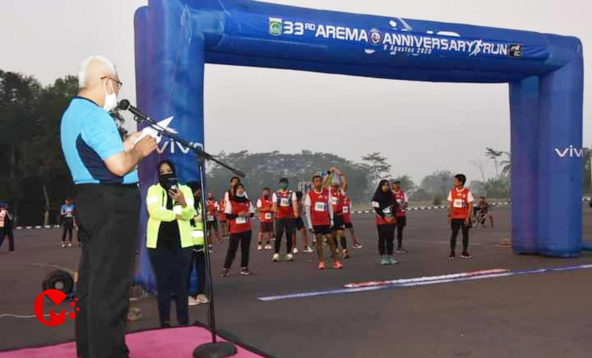 Foto : Bupati Malang berangkatkan anniversary Run 2020