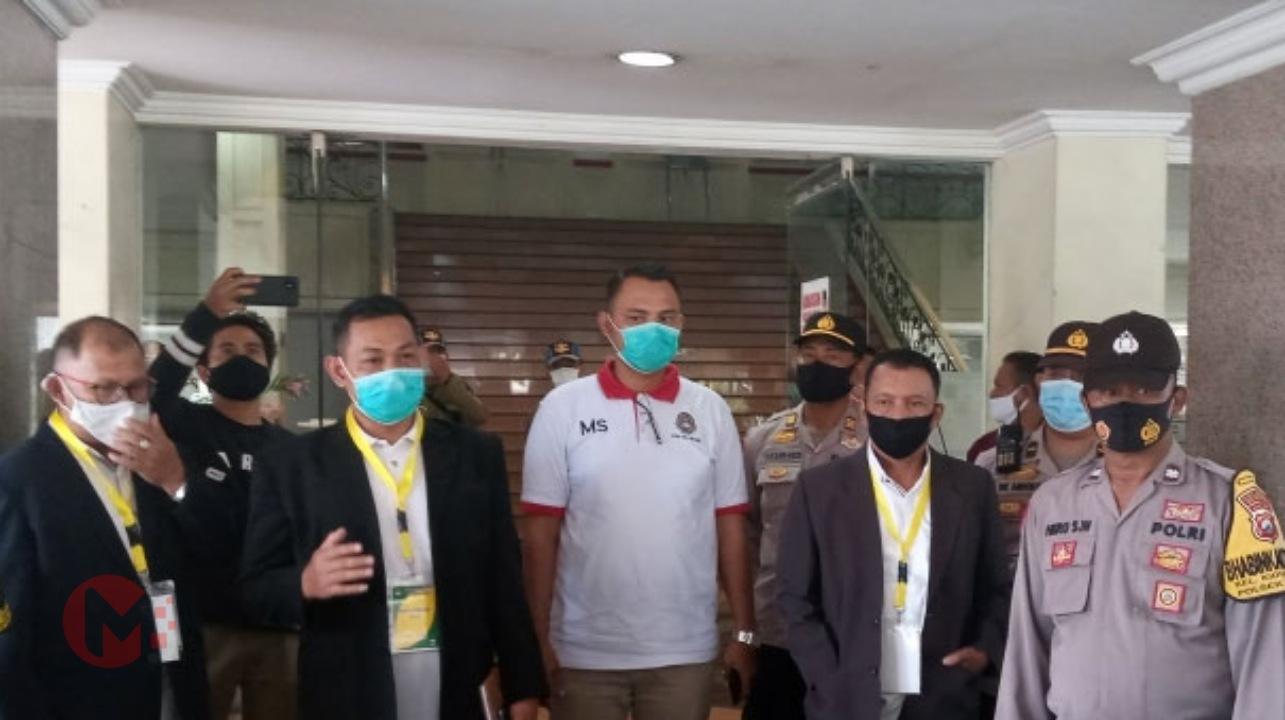 Foto : Komite pelaksana kongres askab PSSI kab malang berikan penjelasan