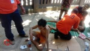 Foto : Dua pemuda asal Wagir selamat dari laka laut di balekambang