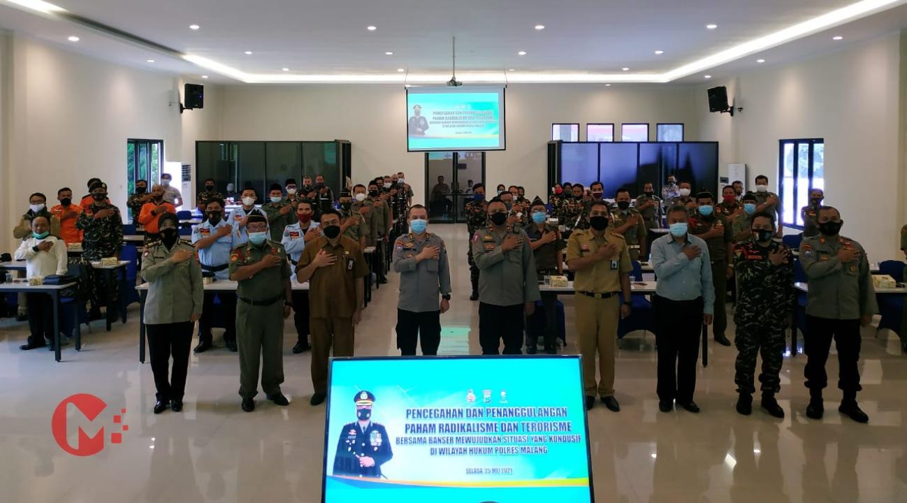 Foto : polres Malang gelar diskusi pencegahan radikalisme bersama Banser kab malang