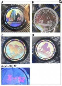 Counterfeit Holograms