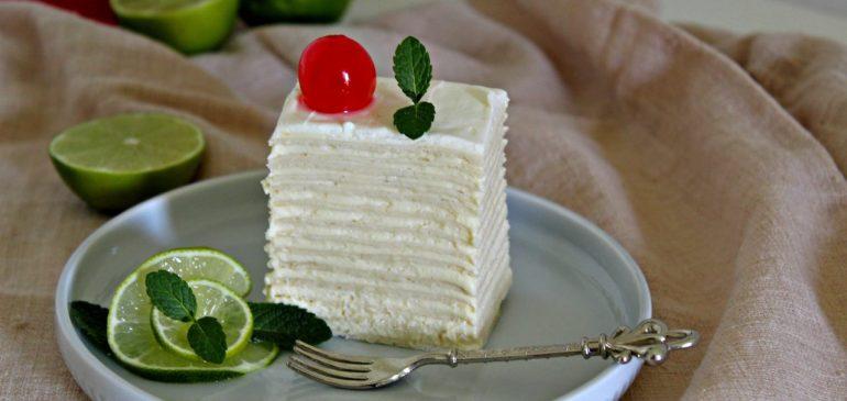 BELA TORTA (bela pita) sa kondenzovanim mlekom i ganašem od bele čokolade