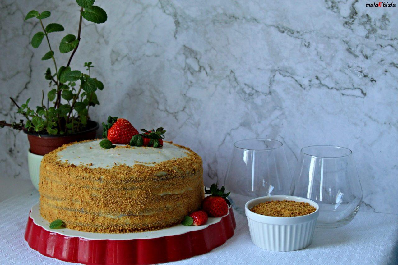 MEDOVIK torta sa kondenzovanim mlekom