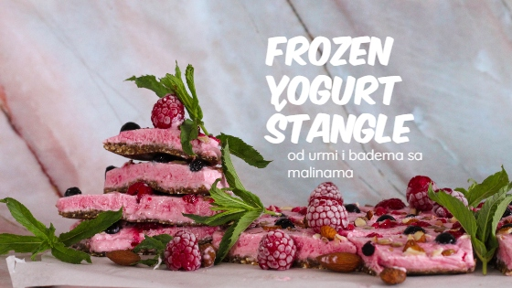 FROZEN YOGURT štangle sa malinama