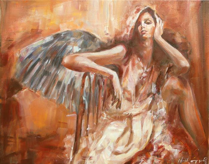 Anioł 152a, olej na płótnie