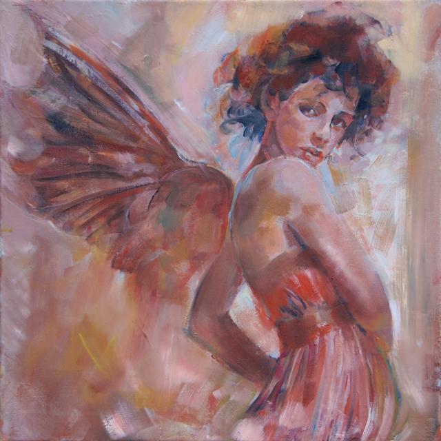 Anioł 169a, olej na płótnie